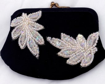Vintage Change Purse with Pink Sequin Adornment