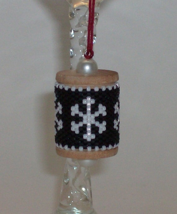 Snowflake Spool Ornament