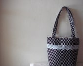 Black Polka Dots Tote Bag