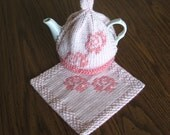 READY TO SHIP Tea and Roses Gift Set, tea cosy, pot holder, cottage chic home decore, vintage-inspired, gift for her