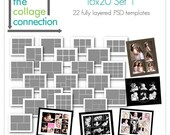 Photography Collage Templates / 16x20 Photoshop Storyboards
