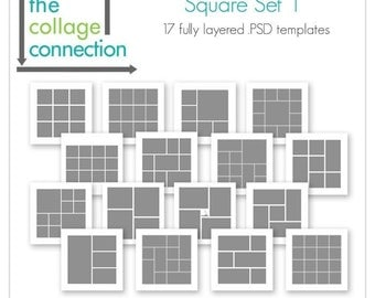 Square Photoshop Template | Square Set 1