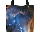 Galaxy Tote Bag Infant Stars Astronomy Fabric