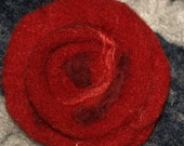 Felted Rose Brooch, free shipping