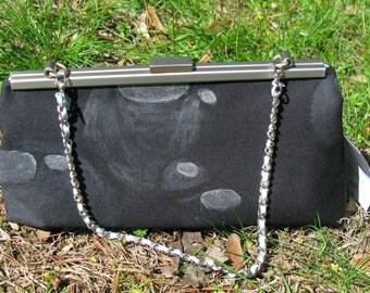 Clutch Purse Black with Bubbles