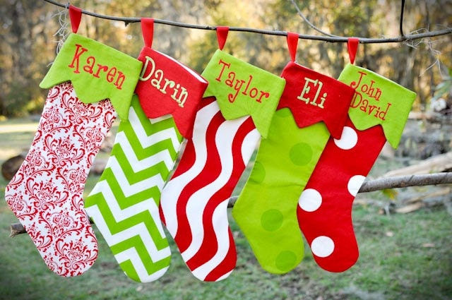 Personalized christmas stockings by zaneyjanes on etsy