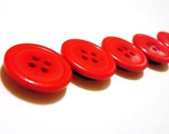 Button Magnets - Scarlet Red for Refrigerator, Locker, Memo Board, Filing Cabinet - Be Mine Valentine - Bold