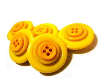 Button Magnets - Canary Lemon Sunshine Yellow for Refrigerator, Locker, Memo Board, Filing Cabinet - Bold