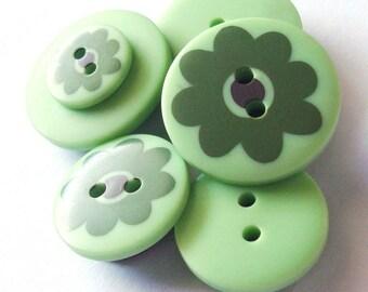 Button Magnets - Mint Seafoam Pistachio Green - Refrigerator, Locker, Memo Board - April Showers, May Flowers - Pastel