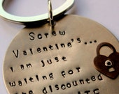anti valentine, anti-Valentine Gift Key Chain - Funny Quote Valentines Day Gift For Single Friend, Chocolate Key Chain, Gift For Girlfriend,