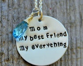 READY TO SHIP Mom Necklace - Daughter Gift - I Love Mom - No. 1 Mom - Mom My Best Friend Necklace - Appreciation- Gift For Mom From daughter