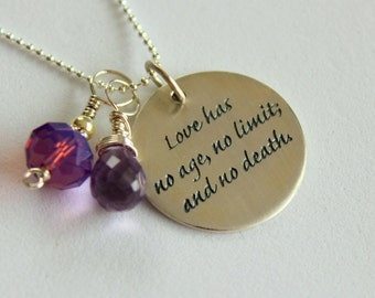 Love Quote Jewelry - Valentines Day Gift Custom Quote , Anniversary Gift, Love Quote, Love Heart  Mothers Day, Love Charm Pendant Necklace
