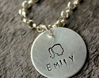 Sterling Silhouette Charm Bracelet For Mothers, Gift For Grandma Name Charm Bracelet - Valentines Day Gift For Her