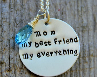 SALE Gift For Mother Of The Bride-  Mom Necklace - Daughter Gift  to Mom-  No. 1 Mom - Mom My Best Friend Necklace -  Mom From daughter