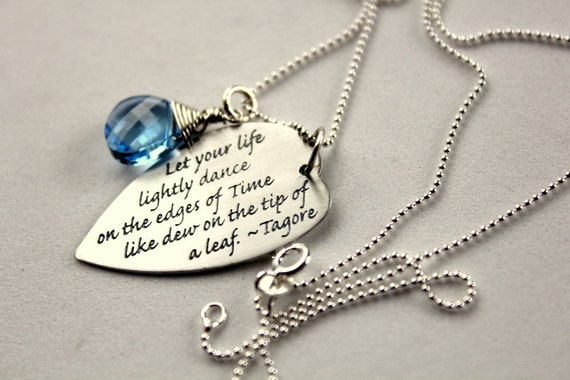 Custom Inspirational Necklace Graduation Gift Tagore Quote