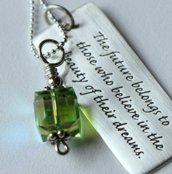 Jewelry With Quotes, Personalized High School Grad Gift, Graduation Gift For Her, Mothers Day, Religious Christmas Gift, Graduation