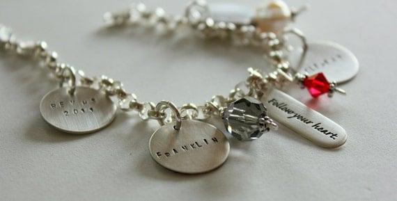 Personalized Mother Bracelet | Personalized Gift | Charm Bracelet| Mom |  Bracelet | Grandma Personalized Charm Bracelet