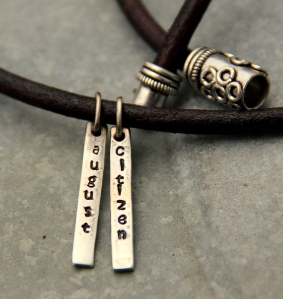 Men's Necklace, Personalized Gift For Dad, Boyfriend Dad Dude Groomsman Gift, Anniversary Rustic For New Dad, Gift Groomsman