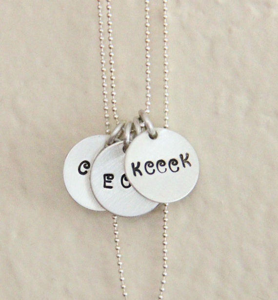 Multiple Children Name Initials For Grandmother Mother Necklace - Monogram Necklaces, Sterling Silver Necklace For Nana Godmother