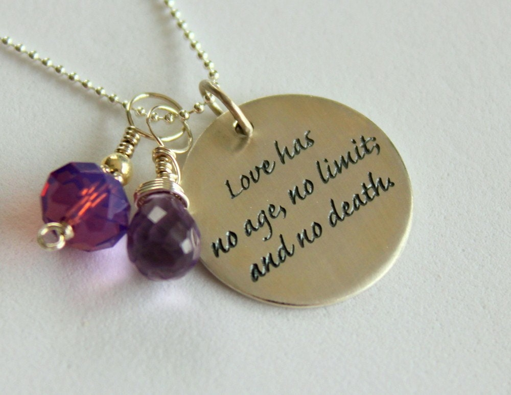 Love Quote Jewelry Valentines Day Gift Custom Quote