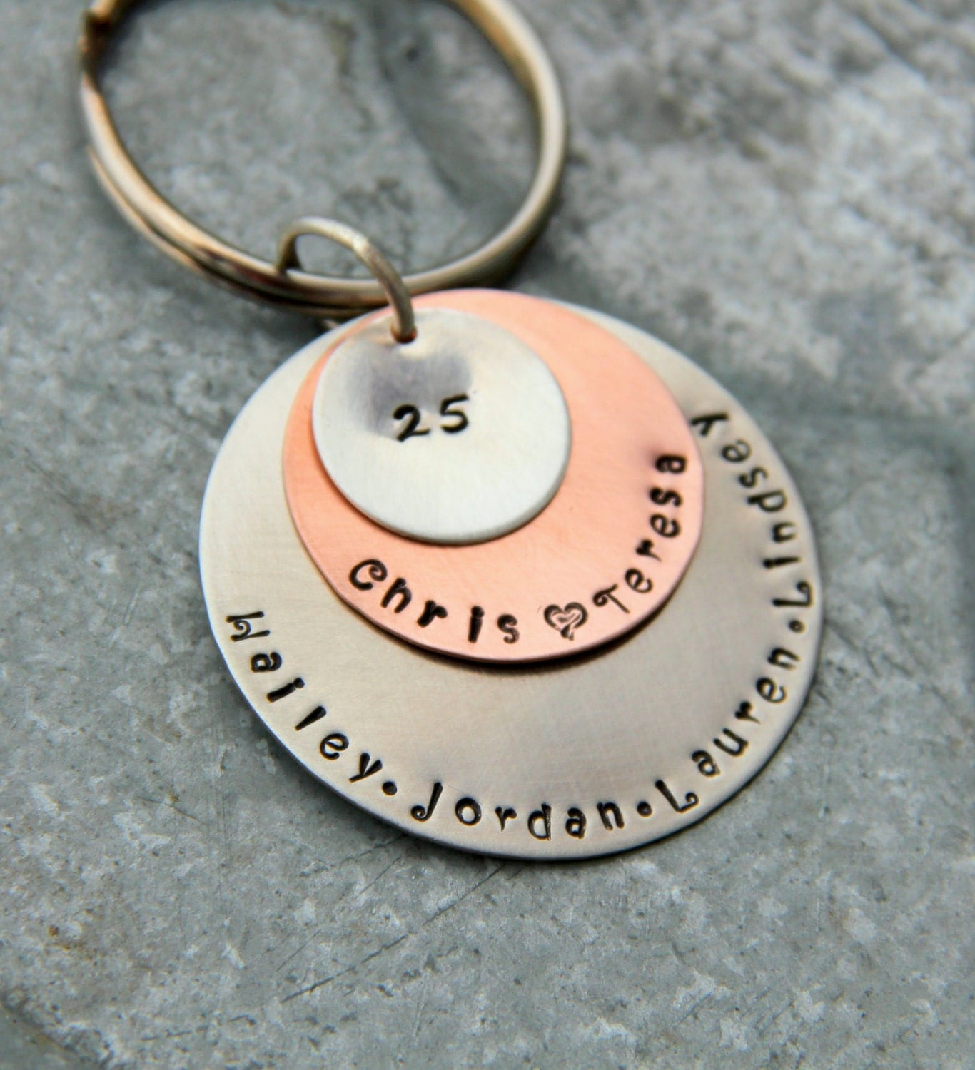 Gift For Husband 25th Wedding Anniversary : Anniversary Gift For Husband Wife 25 years Anniversary Key