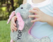 Personalized Military Camo Minky Puppy - Repurposed Small Stuffed Animal