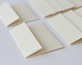 Mini Envelopes - Set of 10 - Cream