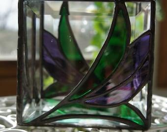 Purple Flower Bud Candle Holder