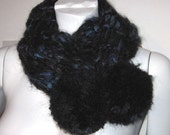 SALE - HANDMADE in ENGLAND, 'Northern Lights' Fluffy Giant Pom Pom Cowl Scarf, by Holly Daise on Etsy