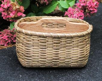 Paper Plate-Silverware Basket/ Divided Basket / Handwoven Basket-Large