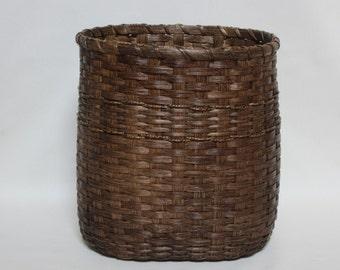 Waste Basket / Magazine Basket / Storage Basket / Oval Basket / Handwoven Basket