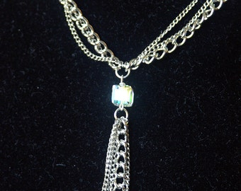 Swarovski Pendant with Stainless Steel Chain