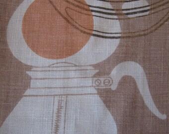 Don Wight purple. Amazing vtg retro mod atomic eames era kitchen towel, fab condition.