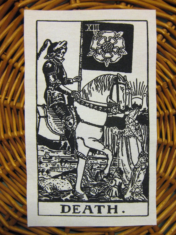 Death Tarot Card Handmade Screen Printed By