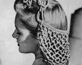 2 X Vintage 1940s Crochet Pattern Snoods PDF