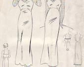 Vintage 1930s Sewing Pattern Butterick 6847 Miss Wrap-Around Slip Bust 33 PDF