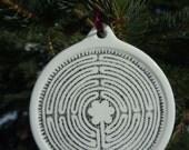 Ceramic Chartres Labyrinth Ornament
