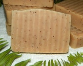 Scrub Bar- Calming Nag Champa Cold Process Soap with Cocoa Butter and Honey