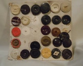 Old Buttons on Sampler Card - reserved