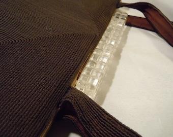 Corde Purse Lucite Clasp Woman's Handbag Accessory
