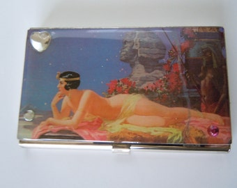 Business Card Holder Maxfield Parrish Style