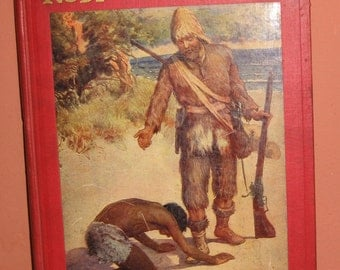Robinson Crusoe 1917 Book Color Illustrations Great Britain Sully and Kleinteich