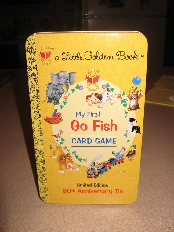 My first go fish card game in tin cards still sealed for Fish card game