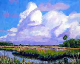 Clouds - Archival Print -  Marsh Art
