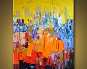no99 Original Huge Large Abstract Modern Art Oil Painting - Michel Campeau - MADE TO ORDER - 48''x60""