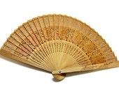 LOVELY vintage Cutwork Sandalwood Fan