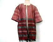 1980s Ethnic Woven Jacket with Fringe
