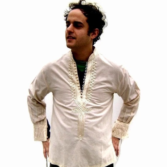 Men S Vintage Indian Shirt 1960s 1970s Hippie By Ragsfeathers