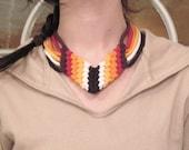 HORIZON stretch necklace  2-6 color   organic eco friendly
