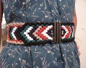 WILD RIVER, organic cotton hand woven stretch belt THICK 6 color eco friendly
